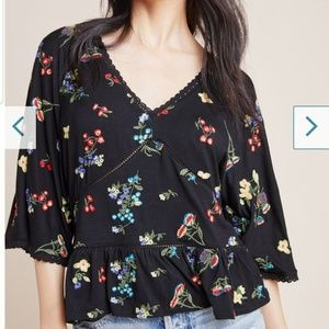 Anthropologie Parvati Embroidered Top Size XL NWT